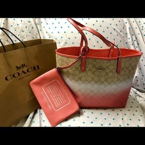 COACH Reversible Ombre City Tote